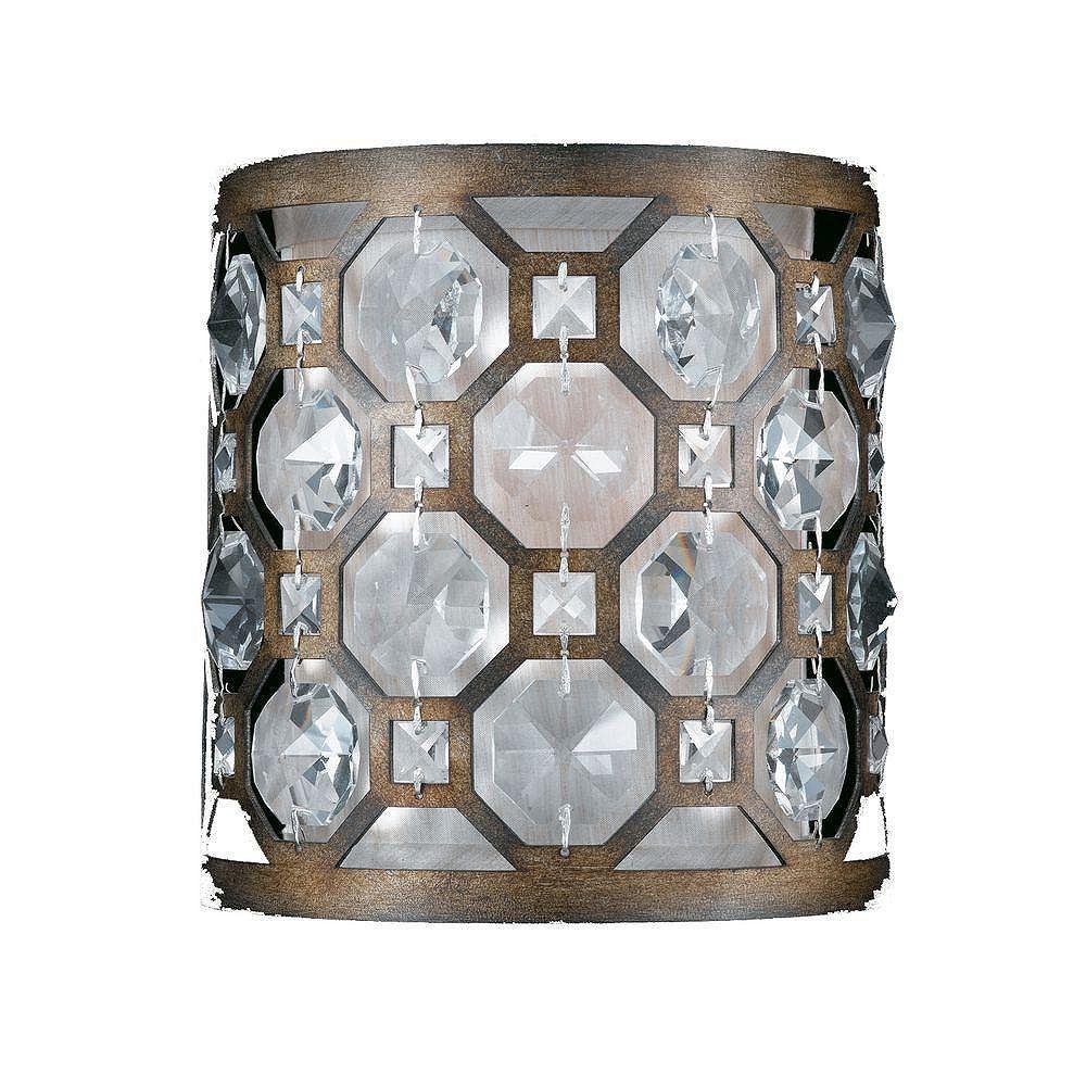 Illumine 1 Light Wall Sconce Bronze Finish Crystal Accents