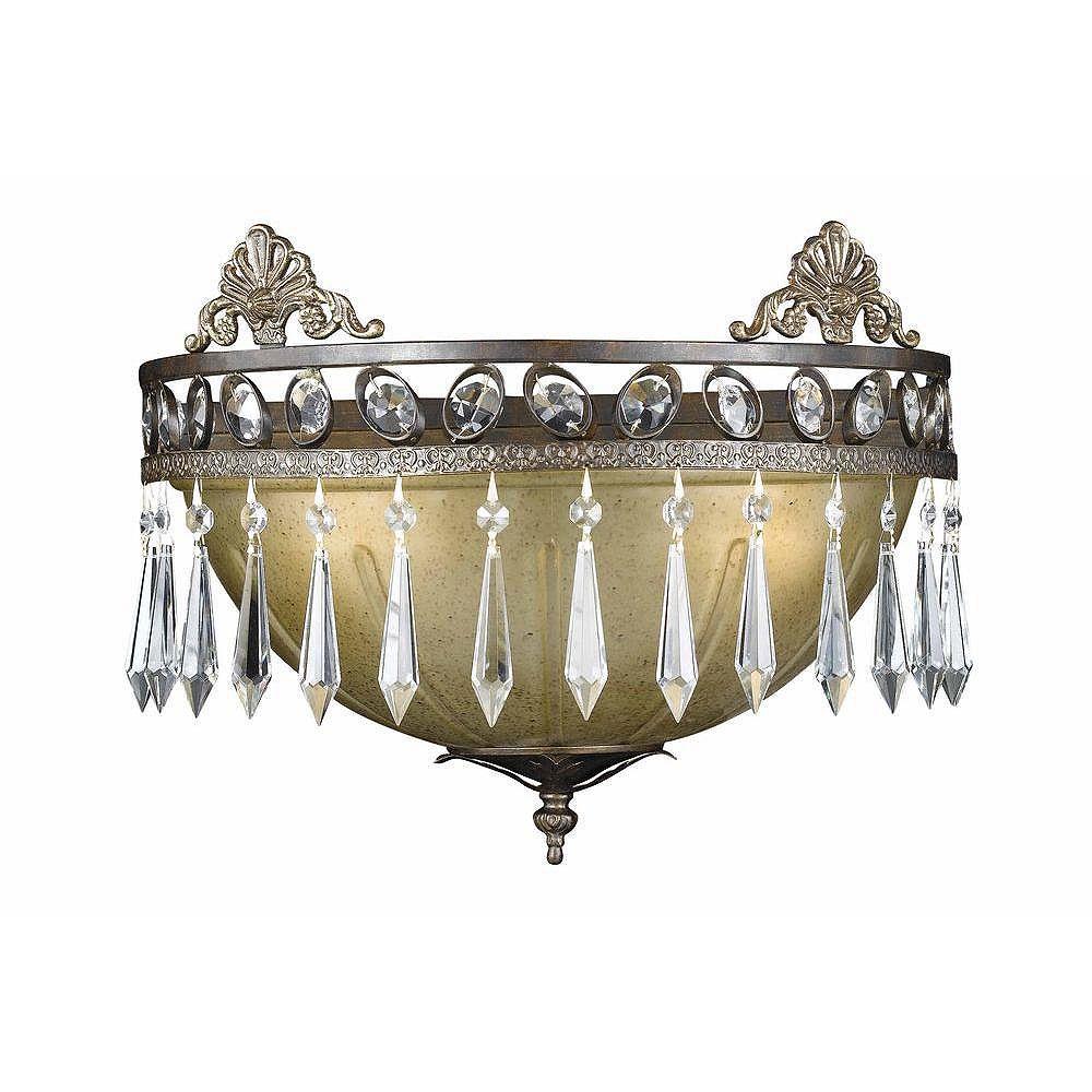 Illumine 2 Light Wall Sconce Bronze Finish Opulent Glass Shades
