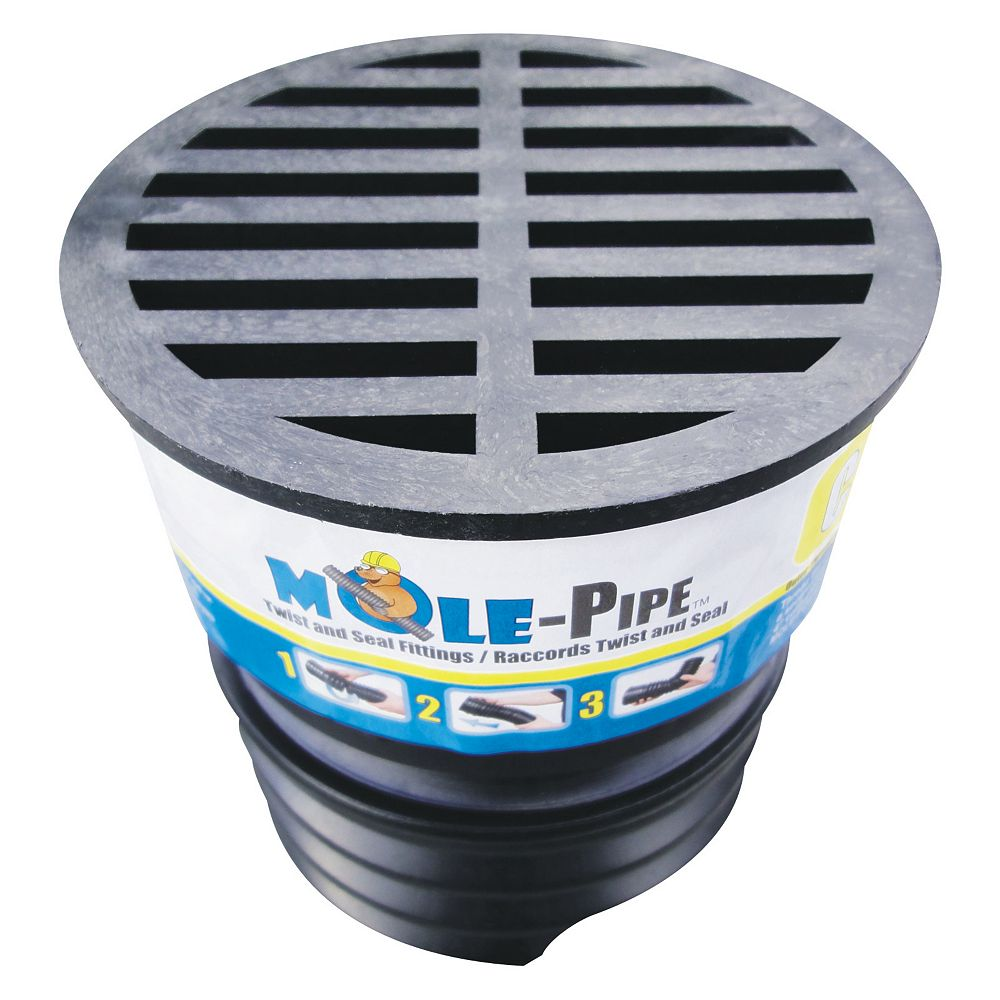 MOLE-Pipe Drain Cap with Twist and Seal Technology