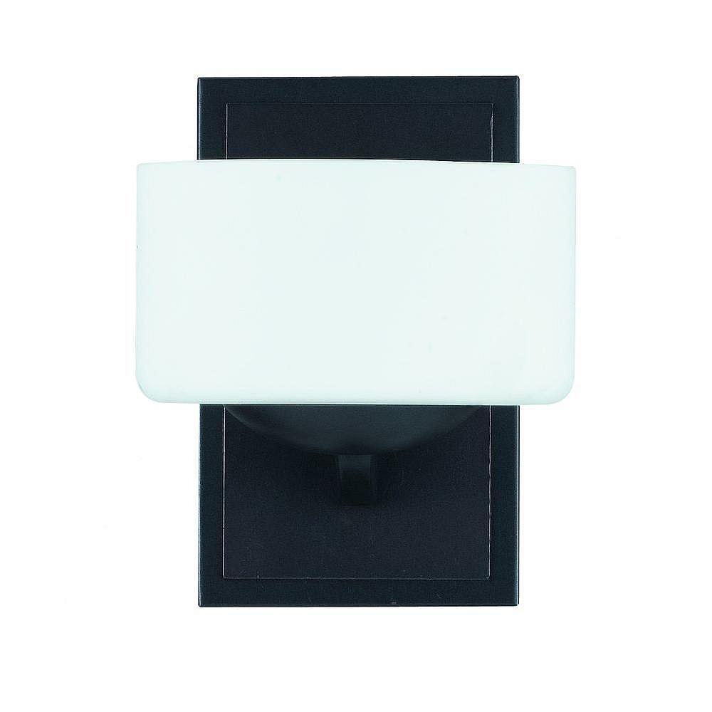 Illumine 1 Light Wall Sconce Bronze Finish White Opal Glass