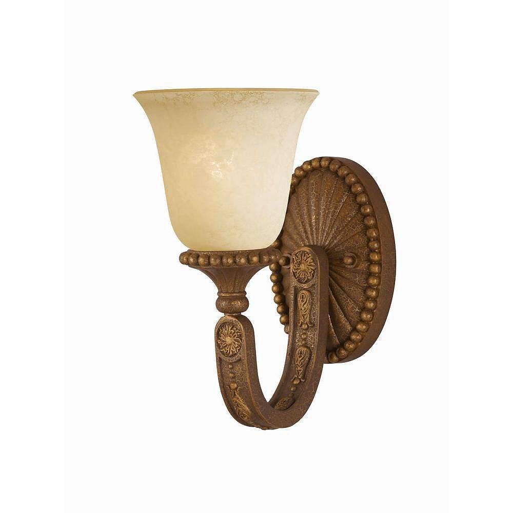 Illumine 1 Light Wall Sconce Bronze Finish Cognac Antiqued Scavo Glass