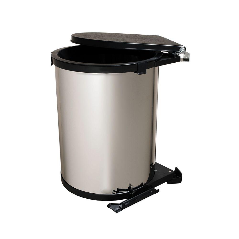 Real Solutions Poubèle pivotante 30 litres Chrome