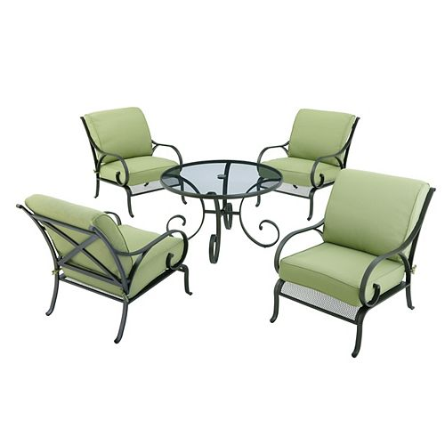 Hampton Bay Trestle Ridge, une table et 4 chaises