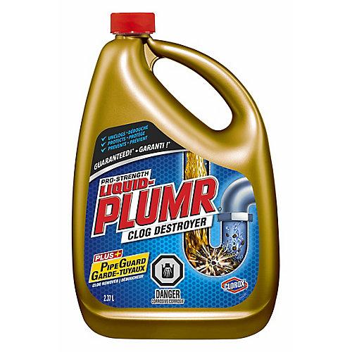 Déboucheur complet de puissance professionnelle Full Clog Destroyer de Liquid-Plumr, 2,37 L