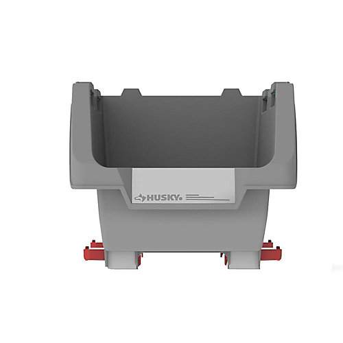 Stackable 9-inch Click Bins in Grey (4-Pack)