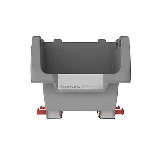 12-inch Stackable Click Bin in Grey