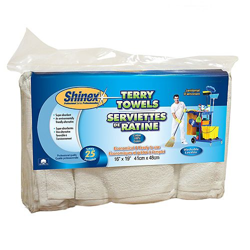 Janitorial Terry Towels (25-Pack)