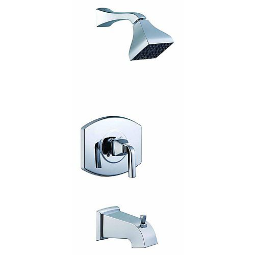 Glacier Bay Robinet baignoire et douche à une manette Série 12000 en chrome