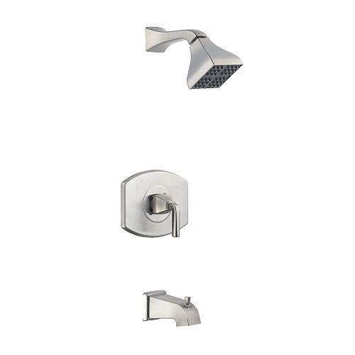 Glacier Bay 12,000 Series Single-Handle Bath/Shower Faucet in Brushed Nickel
