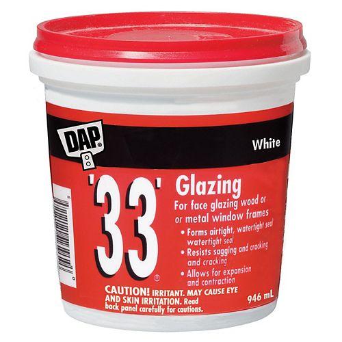 DAP Mastic de vitrier 33 - Blanc - 946 ml