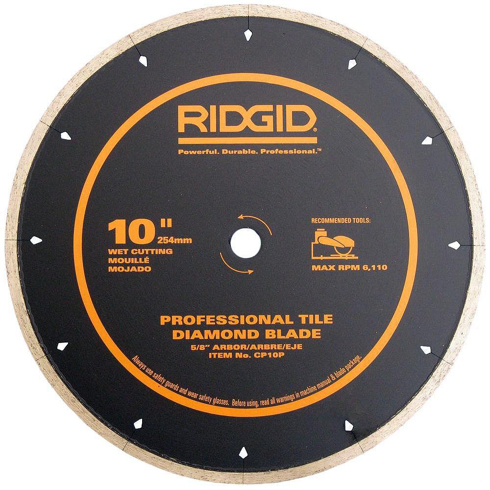 RIDGID 10 Inch Porcelain Diamond Blade