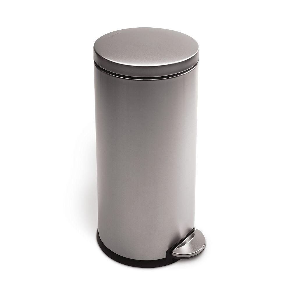 Simplehuman poubelle ronde à pédale