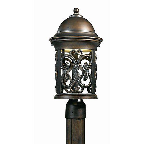 1 La lumière tête Post Bronze Terminer Ouvrez Appuyez sur