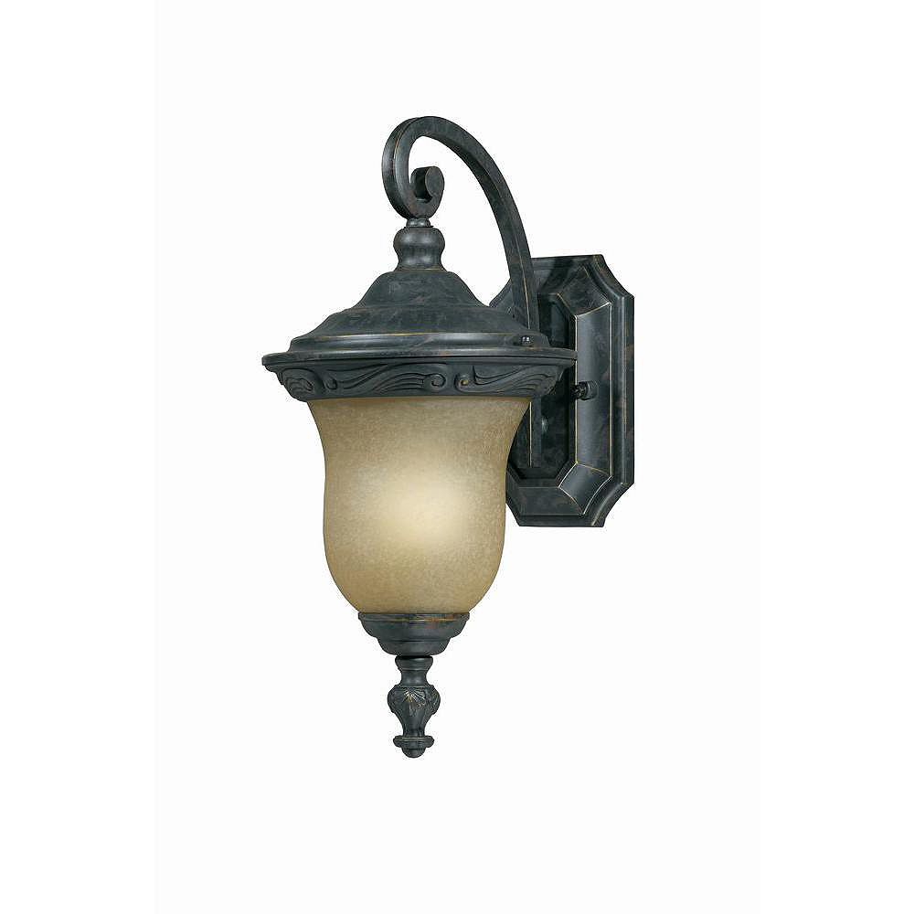 Illumine 1 Light Wall Lantern Bronze Finish Frosted Glass