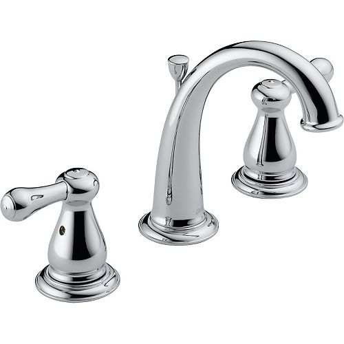 Delta Leland 4-inch Widespread 2-Handle High-Arc Bathroom Faucet in Chrome Finish