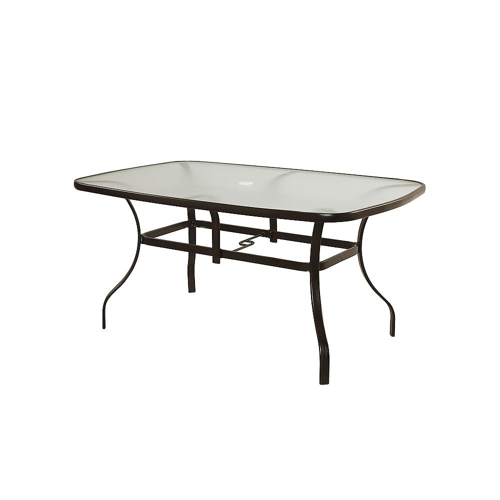 HDG Maple Valley 38-inch x 60-inch Steel Rectangular Outdoor Dining Table