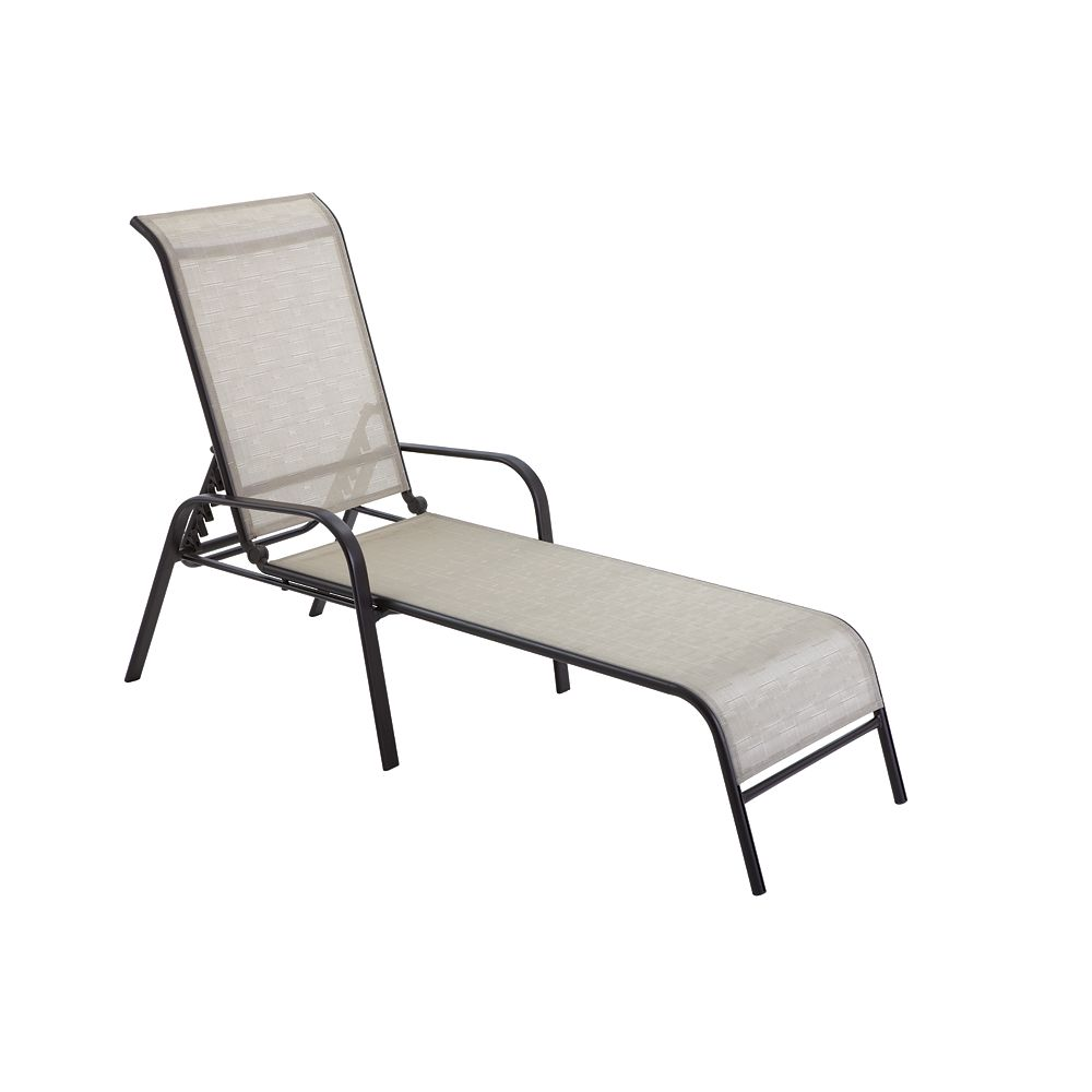 HDG Patio Steel Sling Stack Chaise 2X2 Sling