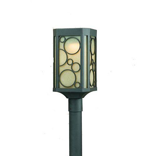 1 La lumière Post Lumière Bronze Terminer Scavo Verre