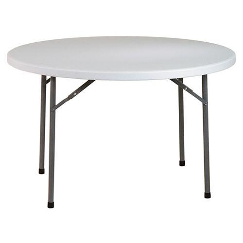 Table ronde polyvalente en résine de 48 po.