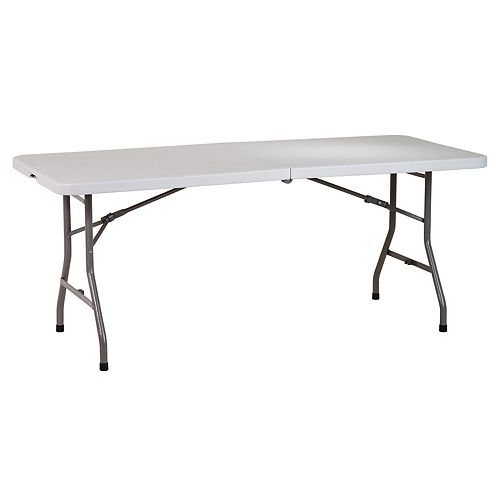 6 Ft Resin Center Fold Multi Purpose Table