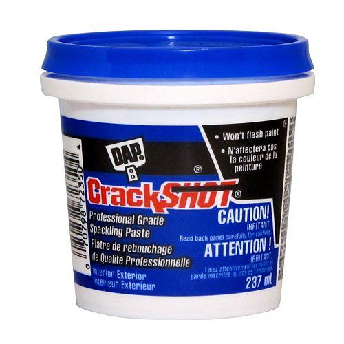 DAP CrackSHOT Reboucheur de qualité professionnelle - Blanc - 237 ml