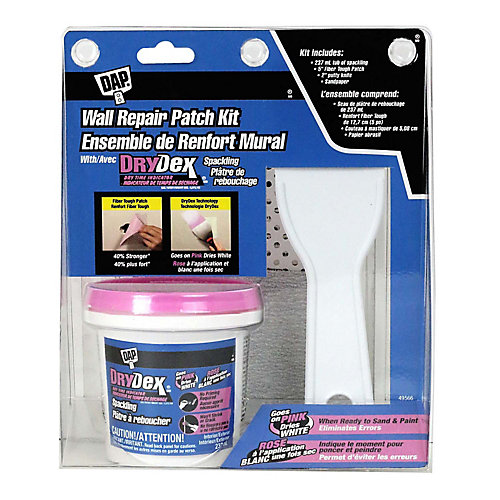 Wall Repair Patch Kit with Drydex Spackling