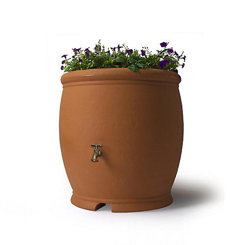 Barcelona 100 Gal. Decorative Rain Barrel in Terra Cotta