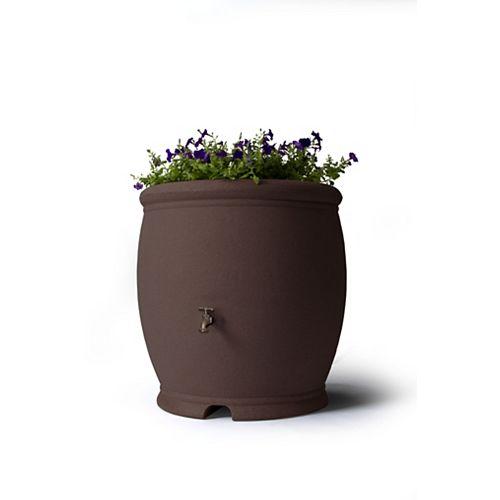 Barcelona 100 Gallon Decorative Rain Barrel - Dark Brown