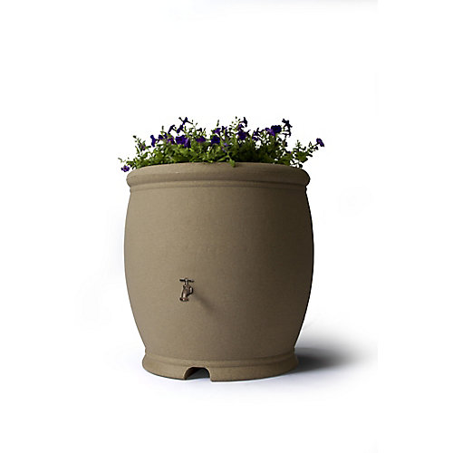 Barcelona 100 Gal. Decorative Rain Barrel in Sandstone