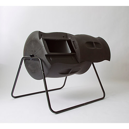 Composteur à tambour Terra 0,21 m3/209l (7,4pi3/55gal) - Noir