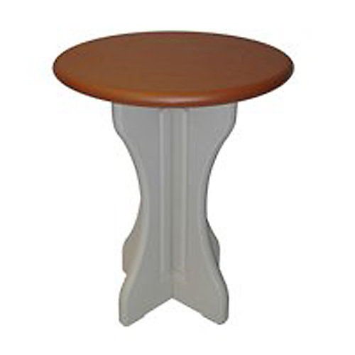 30 Inch Round Table Redwood