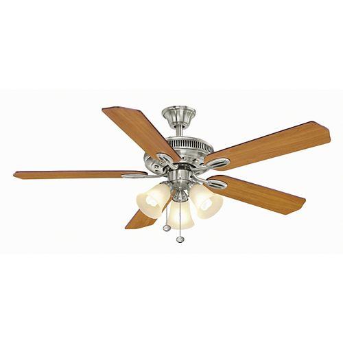 Glendale 52-inch Brushed Nickel Ceiling Fan