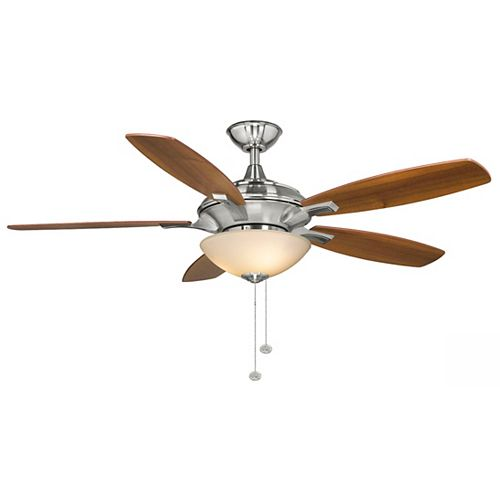 Springview 52-inch Indoor Brushed Nickel Ceiling Fan with Light Kit