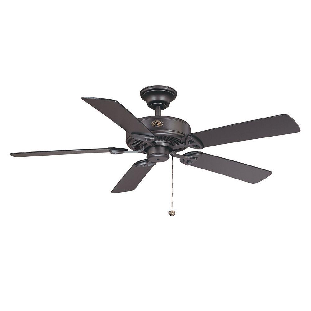 Hampton Bay Farmington 52 Inch Indoor Natural Iron Ceiling Fan The Home Depot Canada