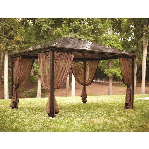 Hampton Bay Hamilton 10 ft. x 12 ft. Hard Top Patio Gazebo
