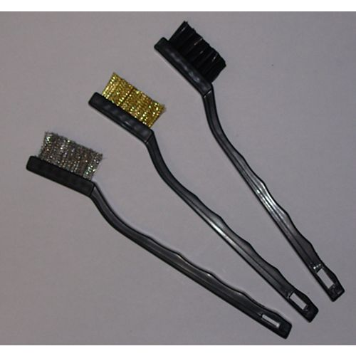 Brushes- Nylon, Brass, Stainless (3-Pack)