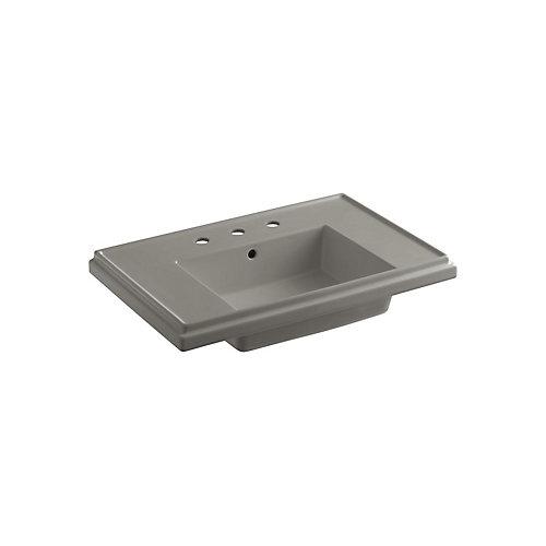 Cuvette de lavabo de salle de bain sur colonne Tresham, 30 po, avec trous pour robinet deploye de 8 po