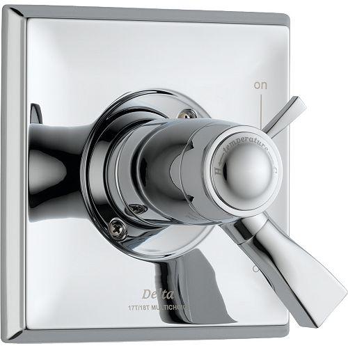 Dryden 1-Handle Thermostatic Diverter Valve Trim Kit in Chrome (Valve Sold Separately)