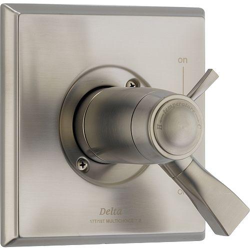 Delta Dryden 1-Handle Thermostatic Diverter Valve Trim Kit in Stainless (Valve Sold Separately)