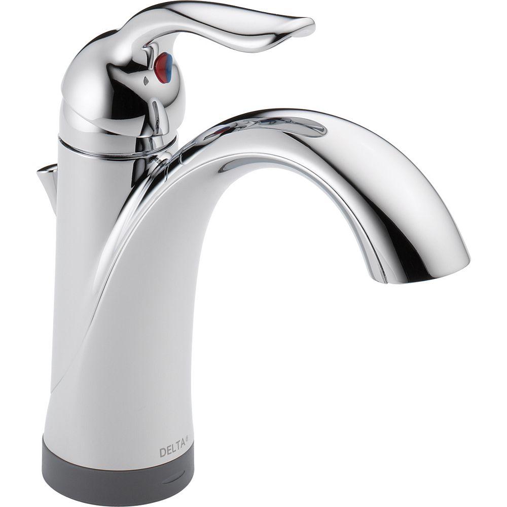 Delta Lahara Single Handle Centerset Lavatory Faucet with Touch20.xt Technology Chrome
