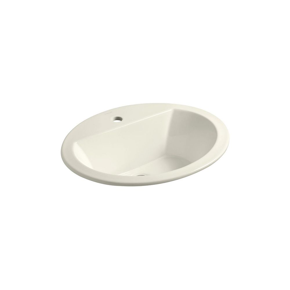 KOHLER Bryant(R) oval drop-in bathroom sink with single faucet hole