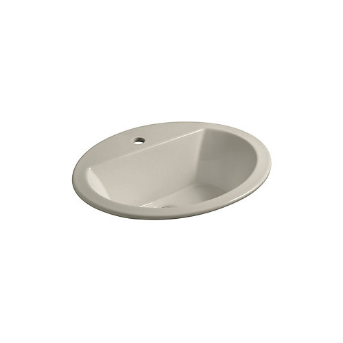 Bryant(R) oval drop-in bathroom sink with single faucet hole
