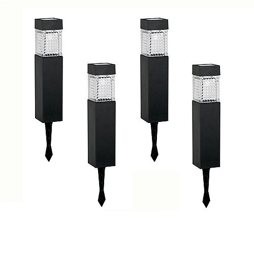 Solar LED Square Walk Light Set (4-Pack)