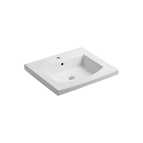 Persuade(R) Curv vanity-top bathroom sink with single faucet hole