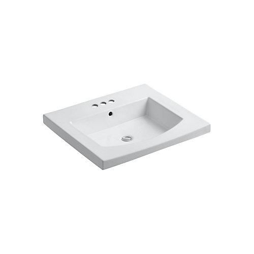 Persuade(R) Curv vanity-top bathroom sink with 4 inch centerset faucet holes
