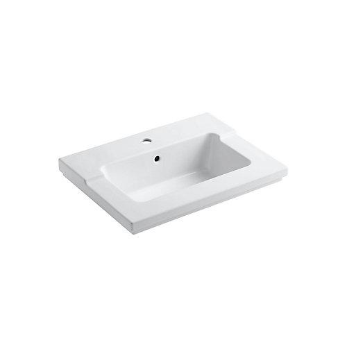 Tresham(R) vanity-top bathroom sink with single faucet hole