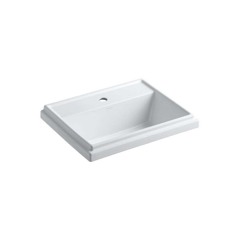 Kohler Tresham R Rectangular Drop In Bathroom Sink With Single Faucet Hole The Home Depot Canada