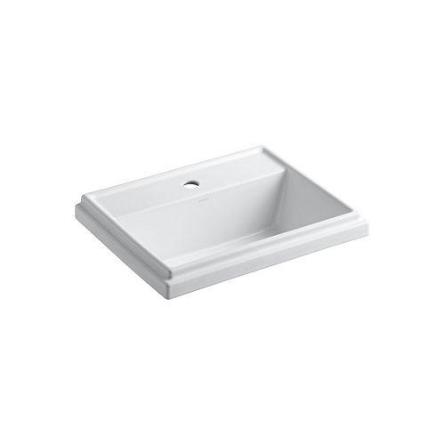 Tresham(R) rectangular drop-in bathroom sink with single faucet hole