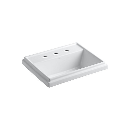 Tresham(R) rectangular drop-in bathroom sink with 8 inch widespread faucet holes