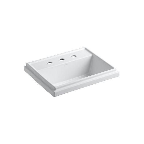 KOHLER Tresham(R) rectangular drop-in bathroom sink with 8 inch widespread faucet holes